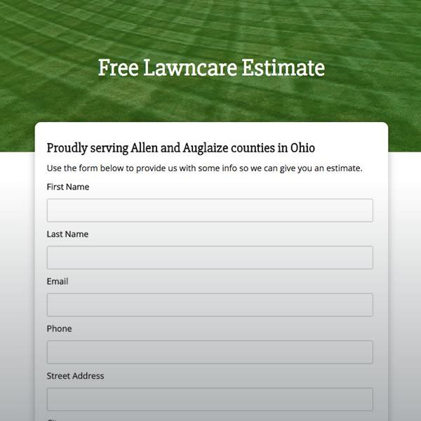 lawn care estimate form